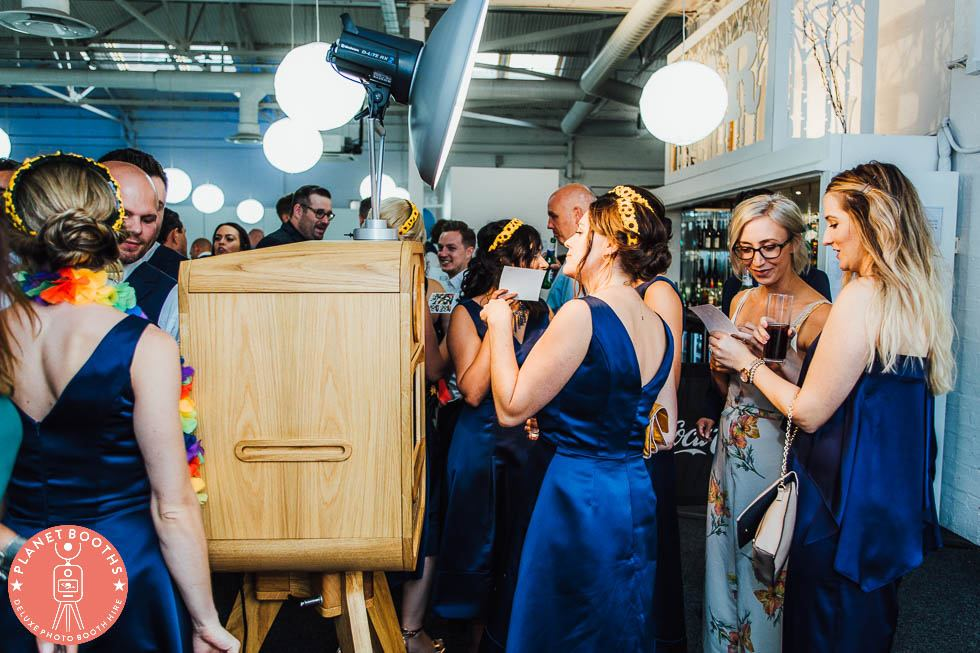 Photo booth hire Birmingham and West Midlands. Photo booth in action.