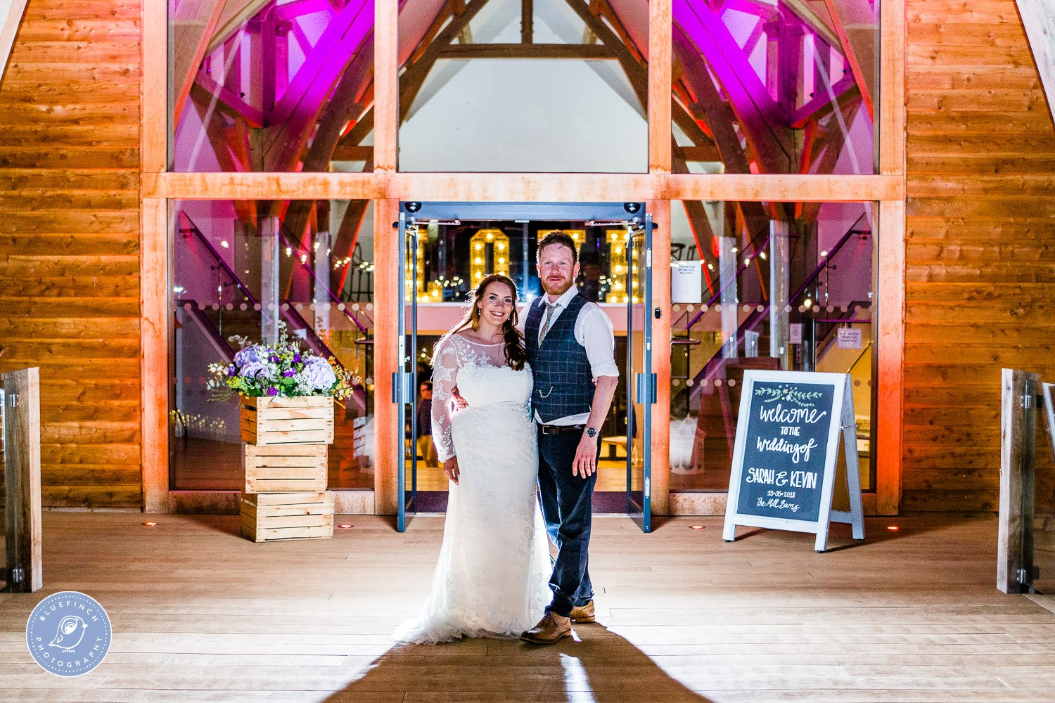 Sarah & Kevin's Wedding Photography At Mill Barns